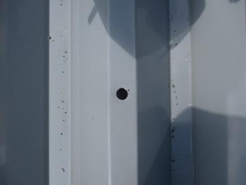 折板屋根の施工工程