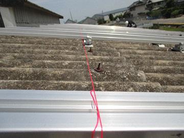 大波スレート屋根の施工工程