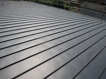 金属立ハゼ屋根の施工工程
