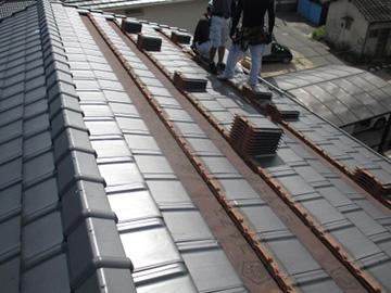 平板瓦(支持瓦)の施工工程