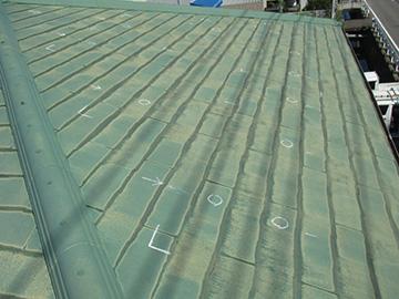 スレート屋根の施工工程