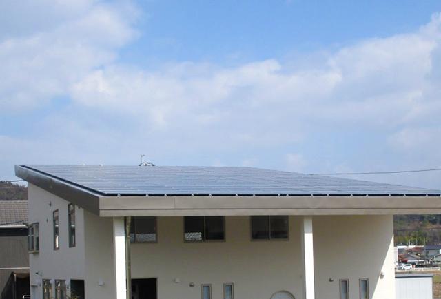 新社屋の屋根